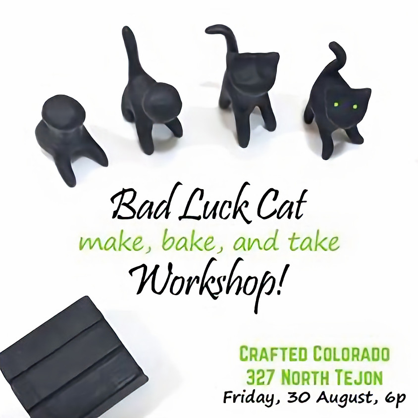 Come learn to make polymer clay cats!