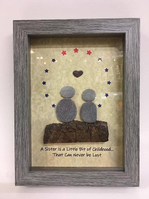 A Sister Is A Little Bit of Childhood... - rock art