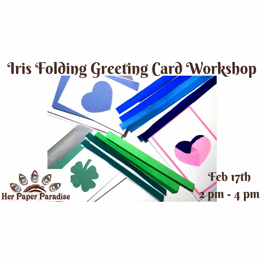 Iris Folding Technique Card Making with Her Paper Paradise