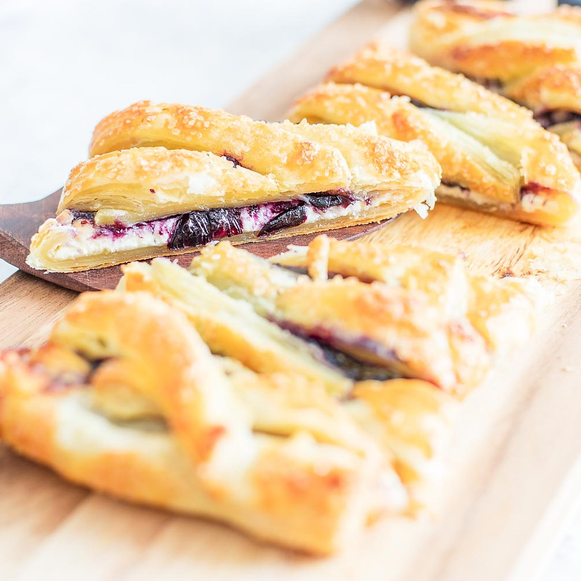 SOLD OUT - Blueberry Pastry Braid Baking Class