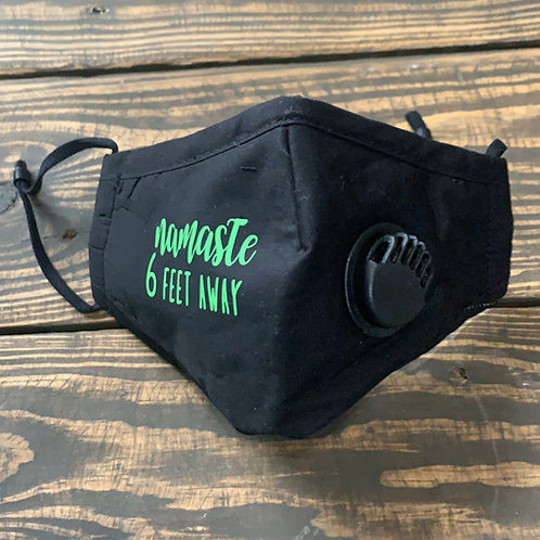 FUNNY FACE MASK with Valve-Black with green