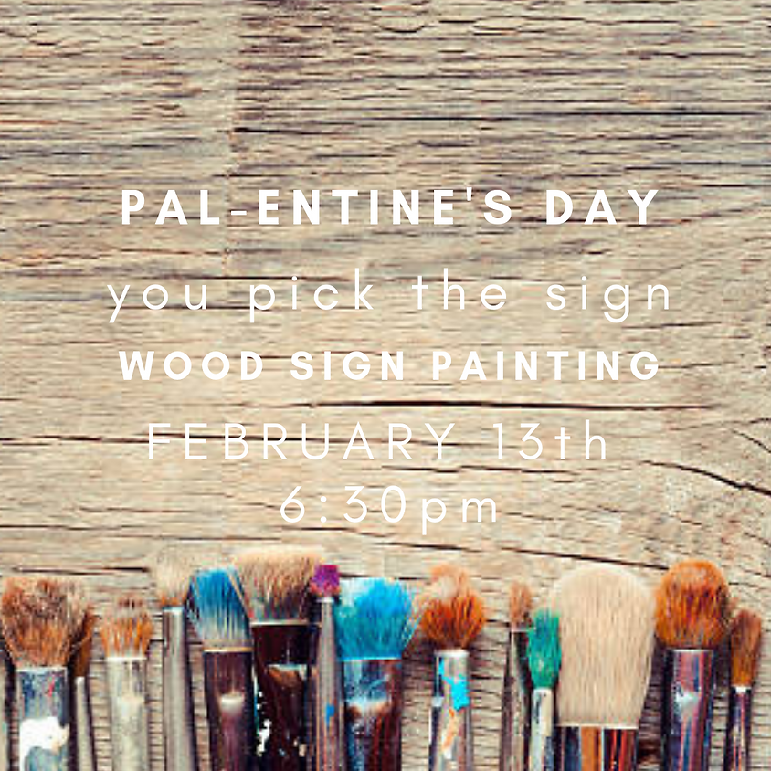 Wood Sign Painting Party
