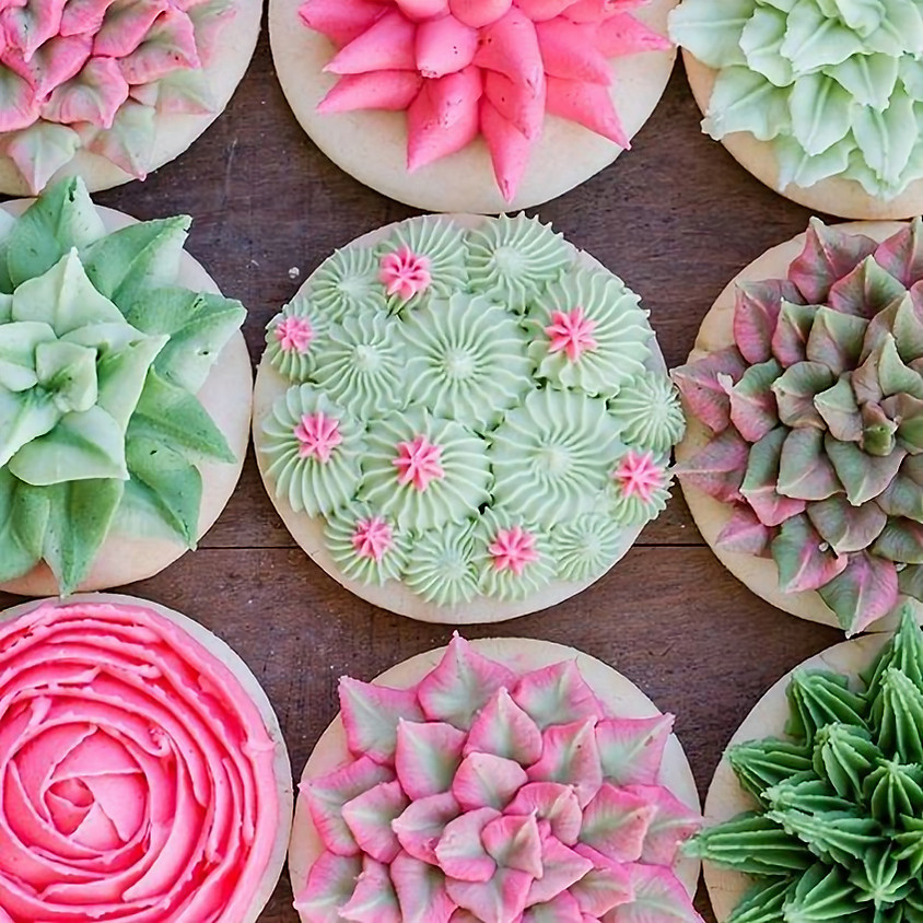 SOLD OUT - Succulent Cookie Decorating