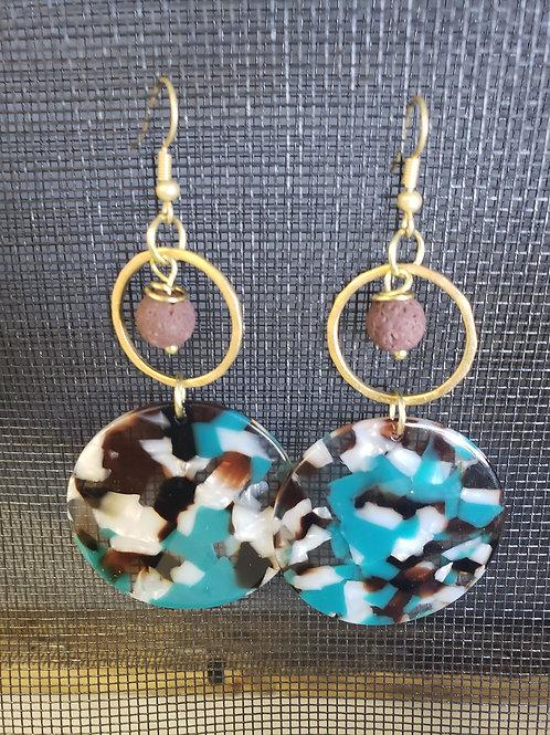 EARRINGS - Diffuser Earrings - resin discs