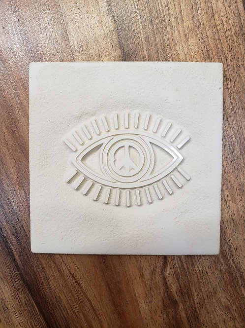 Small reverse-etched tile