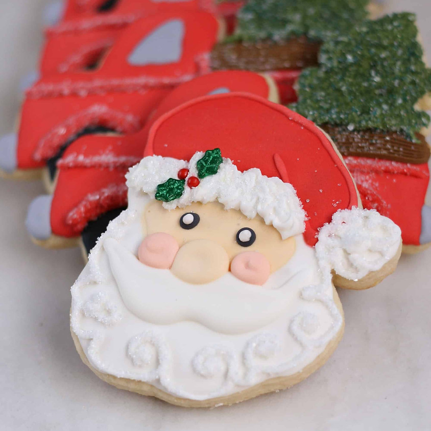 Santa Themed Cookie Decorating