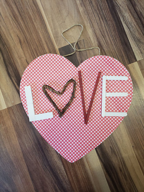 Valentines decor -eclectic love sign