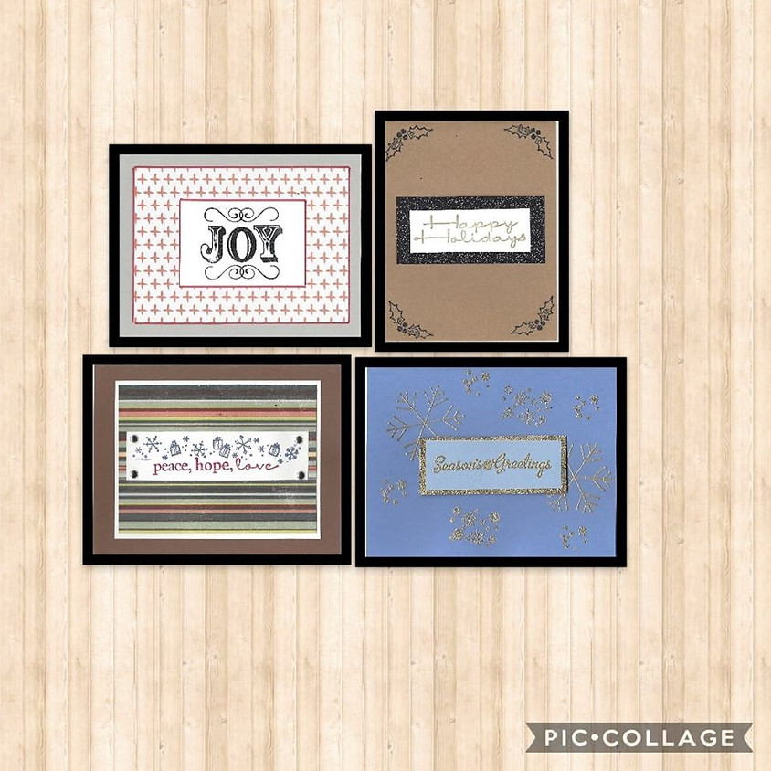Stamped Holiday Greeting Cards