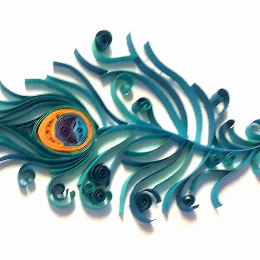 Quilling Peacock Feather Workshop-VIDEO