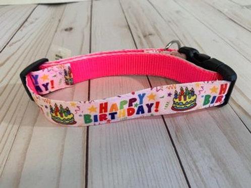 Medium Dog Collar - Happy Birthday