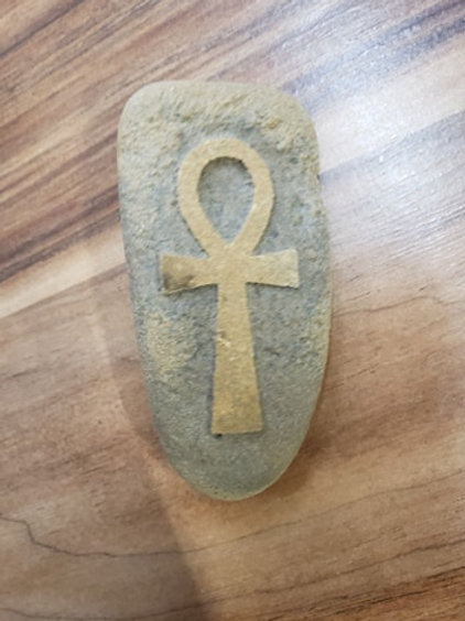 Reverse etched rock - Ankh