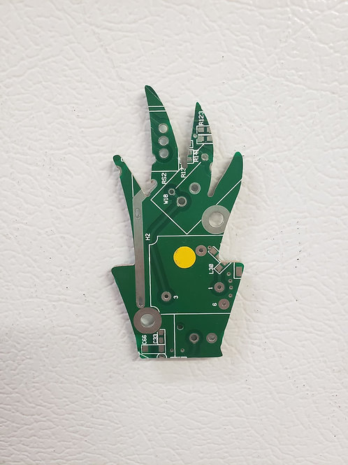 Recycled circuit board magnet - plant