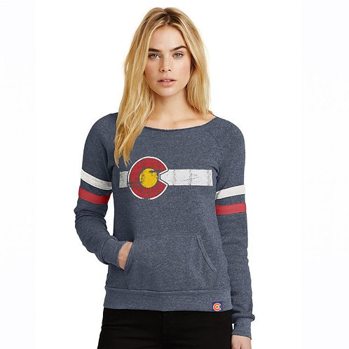 Ladies Alpine Eco-Fleece Colorado Flag Sweatshirt