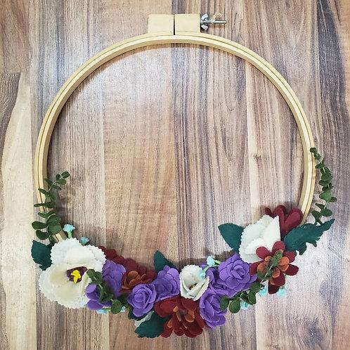 Large Felt Flower Hoop Wreath