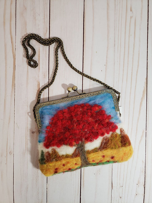 Incredible needle-felted purse