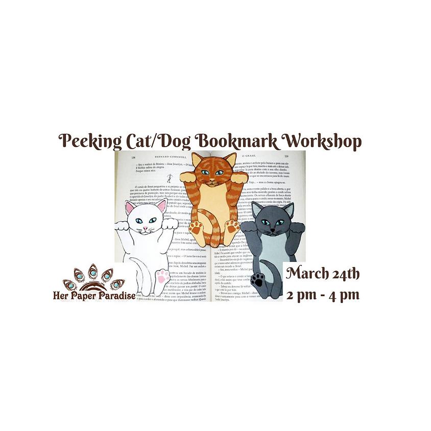 Paper Cat or Dog Bookmark
