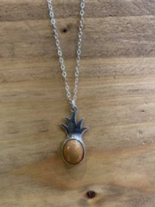Yellow Stone Pineapple Necklace