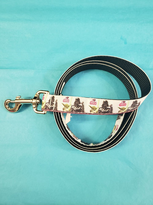 Dog Leash - Star Wars pink and white