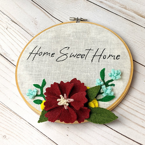 Home Sweet Home Embroidered Sign