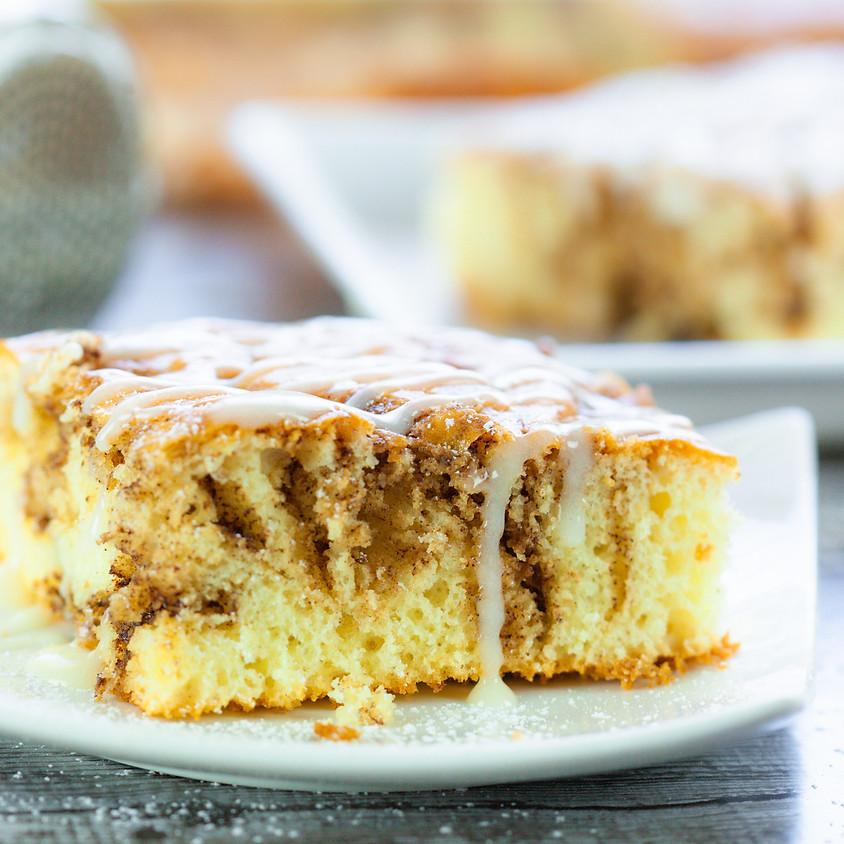 Cinnamon Roll Cake Baking Class