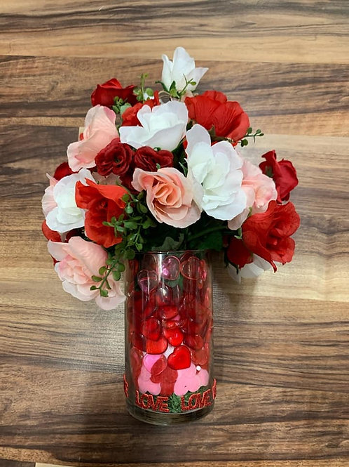 Valentine's Day Flower Vase