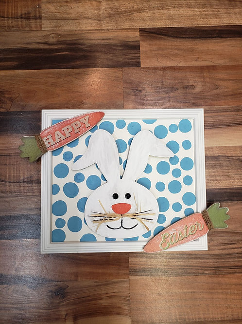 Happy Easter bunny frame