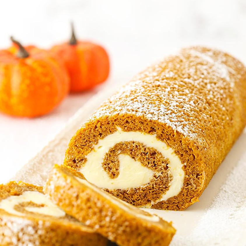 Pumpkin Roll Cake baking class (1)