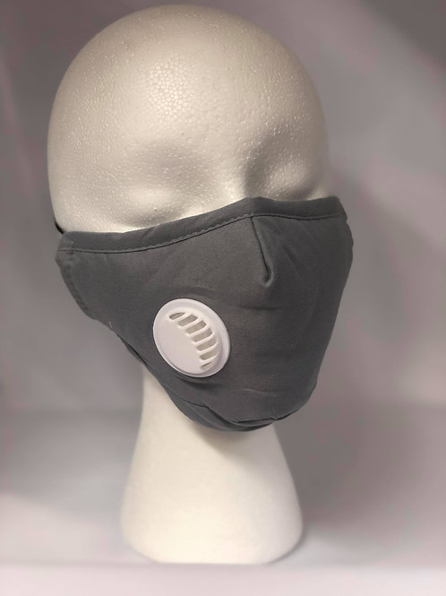 FACE MASK with Valve-grey