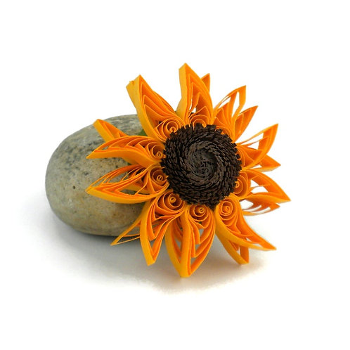 Paper Quilled Sunflower Magnet
