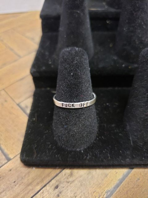 F OFF Sterling Silver Ring