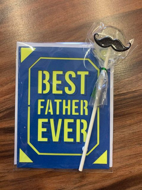 Father's Day Card and Lollipop Combo