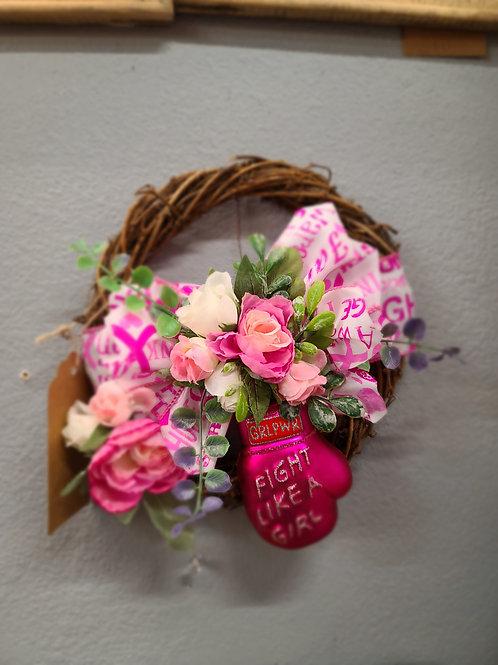 Small Breast Cancer Wreath