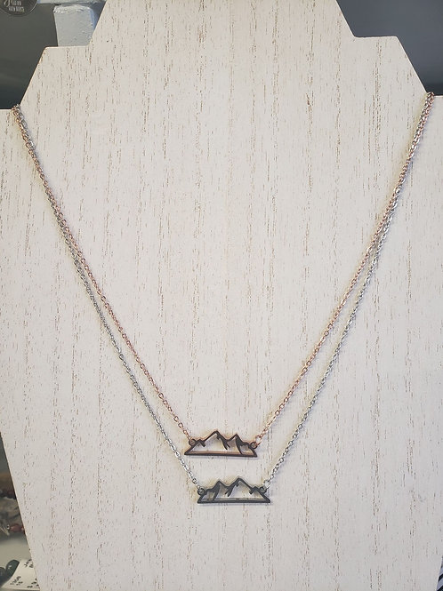 Mountain Scene Necklace
