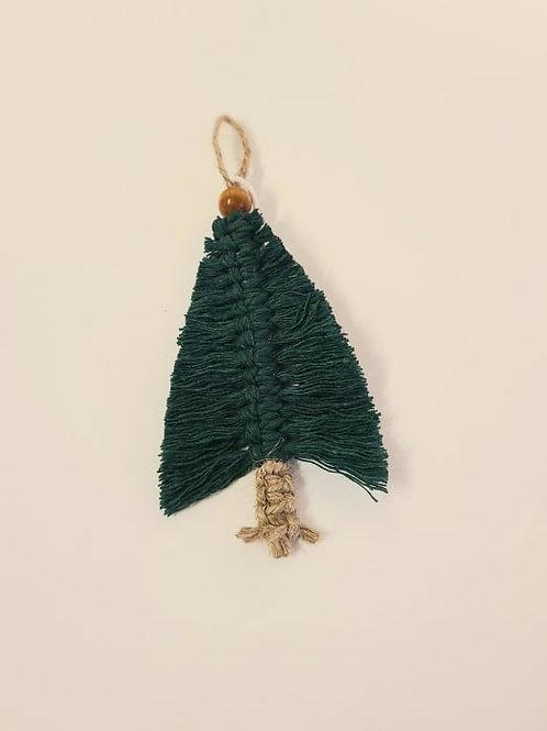 Macrame Christmas tree ornament
