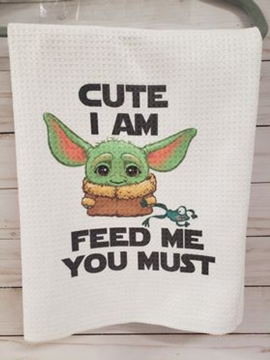 WAFFLE TOWEL-Baby Yoda (Grogu)