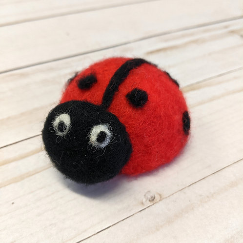Little Critter Felted Lady Bug