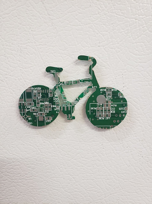 MAGNET - Recycled Circuit Board - Bicycle