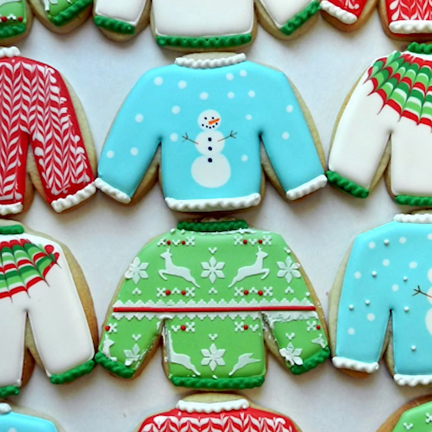 Ugly Sweater Cookie Decorating + drink (21+ only)