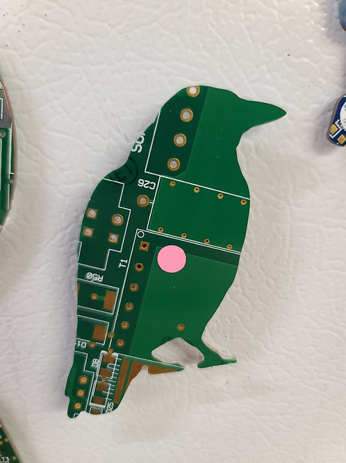Circuit Board Magnet - Bird
