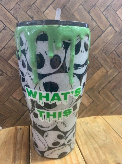 Extra Large Resin Tumbler - Nightmare Before Christmas