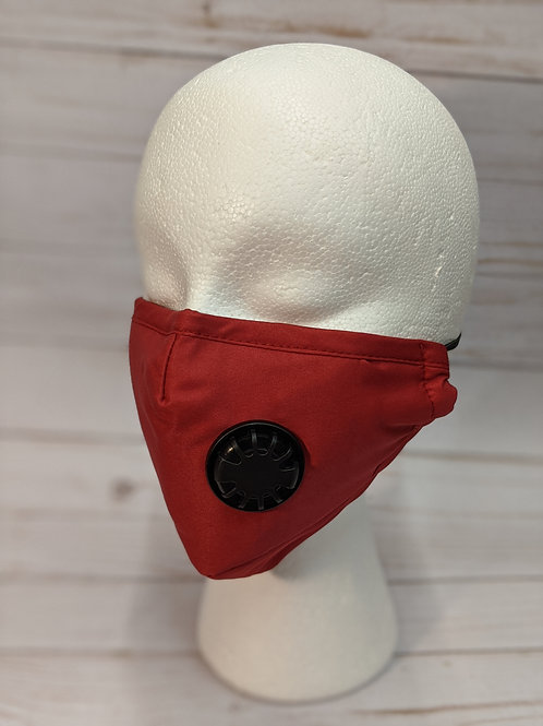 FACE MASK with Valve-red