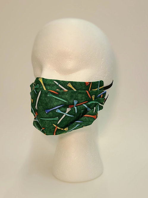 PLEATED FACE MASK-golf tees