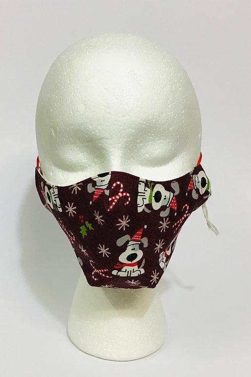 Christmas Dog Mask - Medium