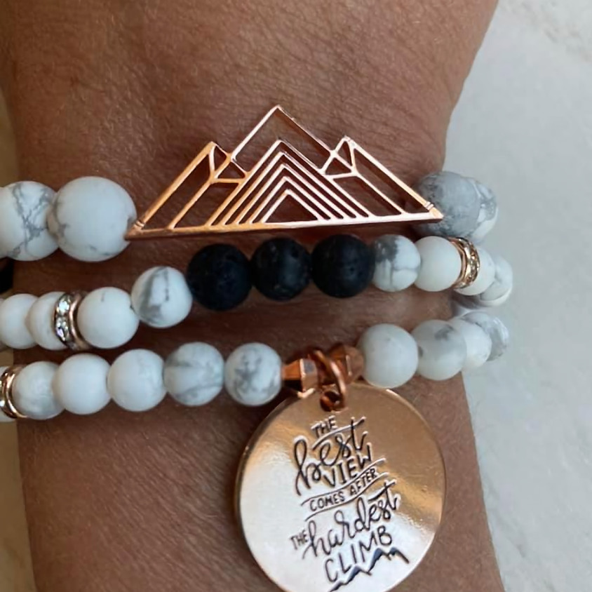 Mountain Diffuser Stack Bracelets