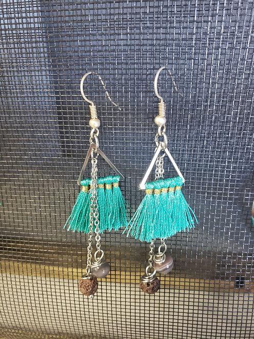 Diffuser Earrings - triangle dangles