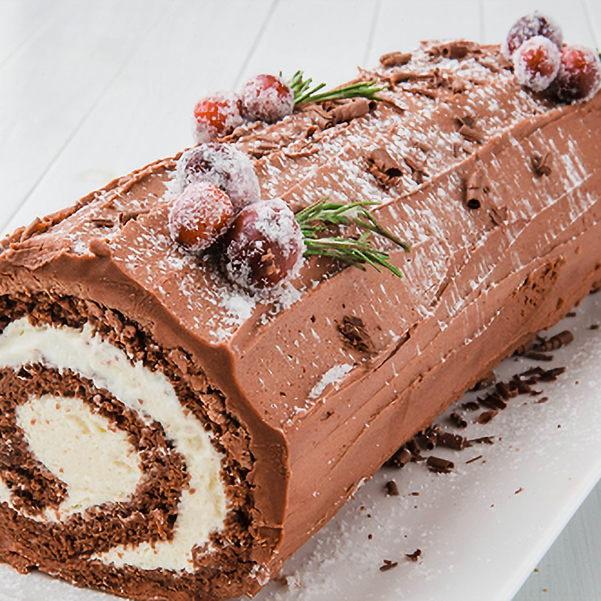 SOLD OUT - Yule Log Cake Decorating