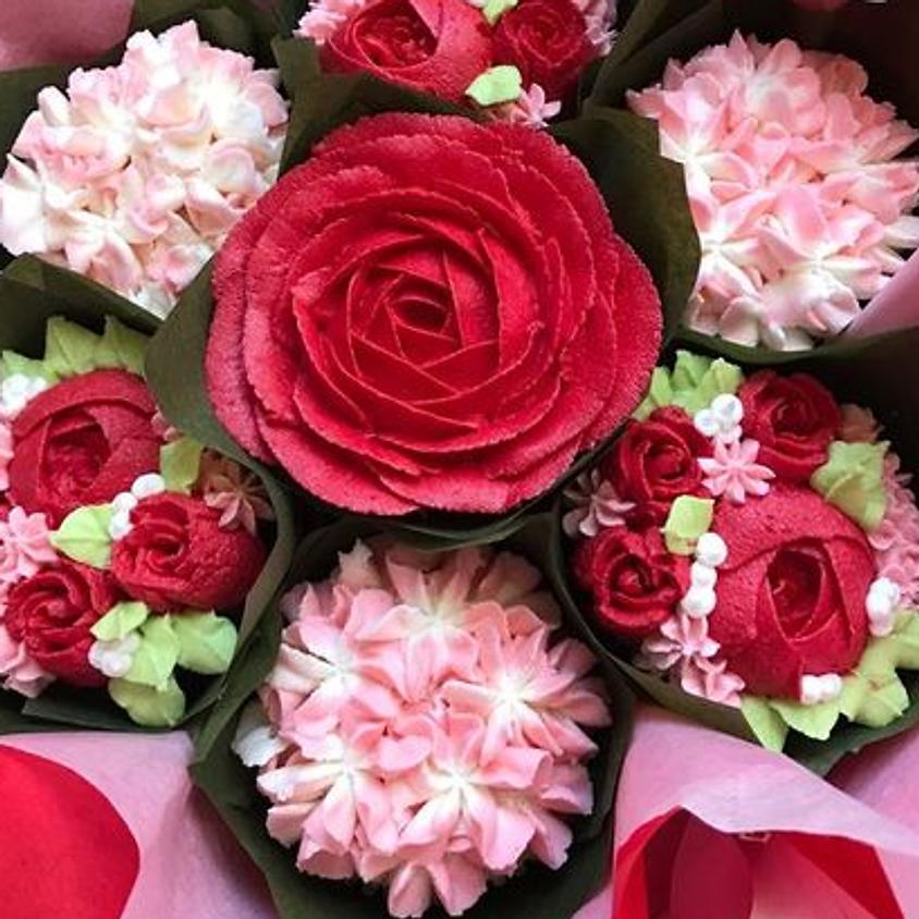 Valentine's Day Cupcake Bouquet class