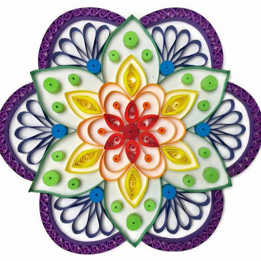 Quilling Mandala Workshop via video online