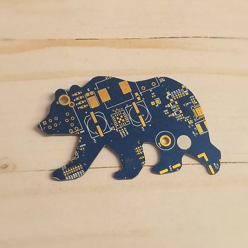 MAGNET - Recycled Circuit Board - Bear