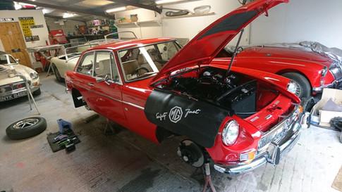 MGB GT Restoration SJS Classic Automotive Services